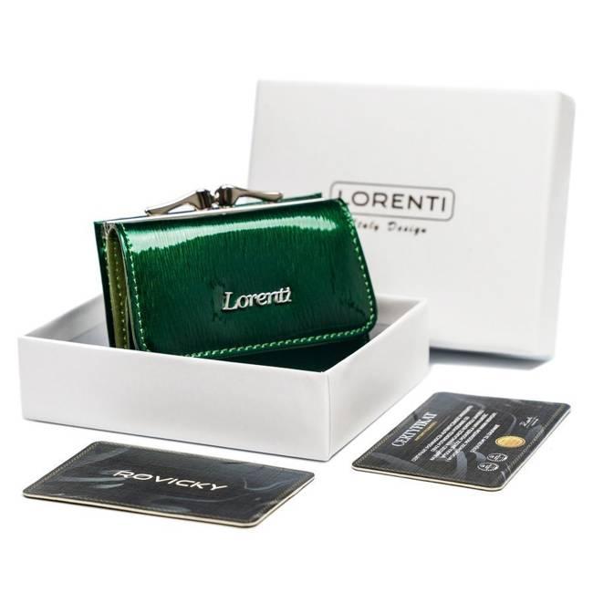 Portfel damski zielony Lorenti 55287-SH NAPIS GREEN