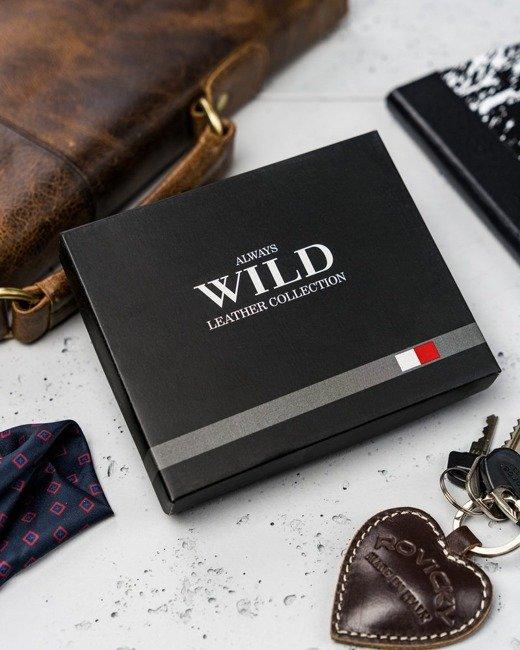 Portfel męski brązowo-beżowy Always Wild  N1662-R-RFID BR+TA