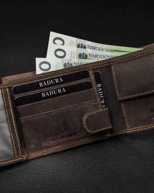 Portfel męski brązowy Badura N0035-CHM-BA BROWN