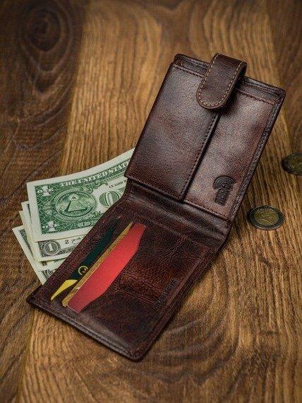 Portfel męski brązowy Buffalo Wild N1189L-HP-5120 RUST
