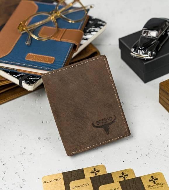 Portfel męski brązowy Buffalo Wild RM-03-HBW BROWN