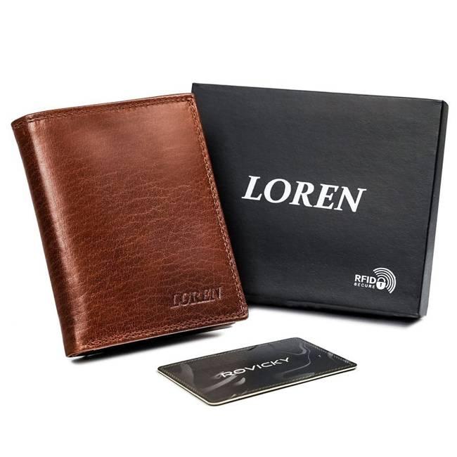 Portfel męski brązowy Loren N4-BFL-4747 TAN-BROW