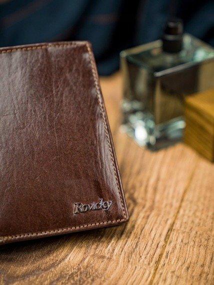 Portfel męski brązowy Rovicky N4-VT-R8 BROWN