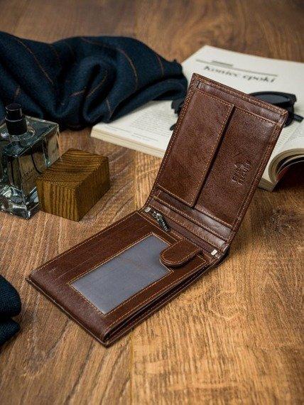 Portfel męski brązowy Rovicky N992-VT-R8 BROWN