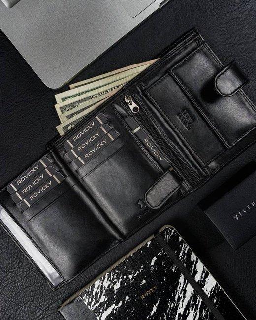 Portfel męski czarny Cavaldi N4L-SCR-CAVALDI BLAC
