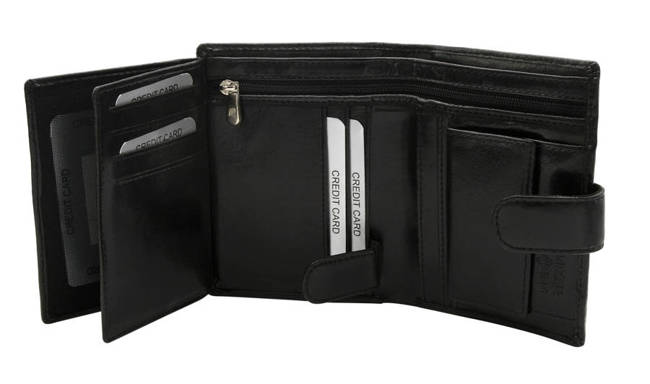 Portfel męski czarny Rovicky GWR-04-ARI-9348 BLAC