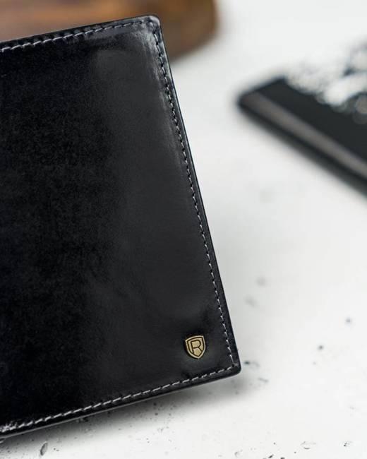 Portfel męski czarny Rovicky N62-RVT BLACK