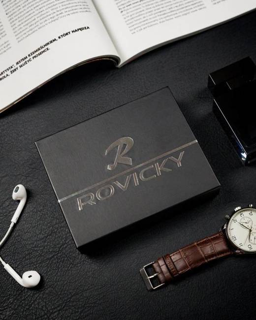Portfel męski czarny Rovicky N992-CMC BLACK