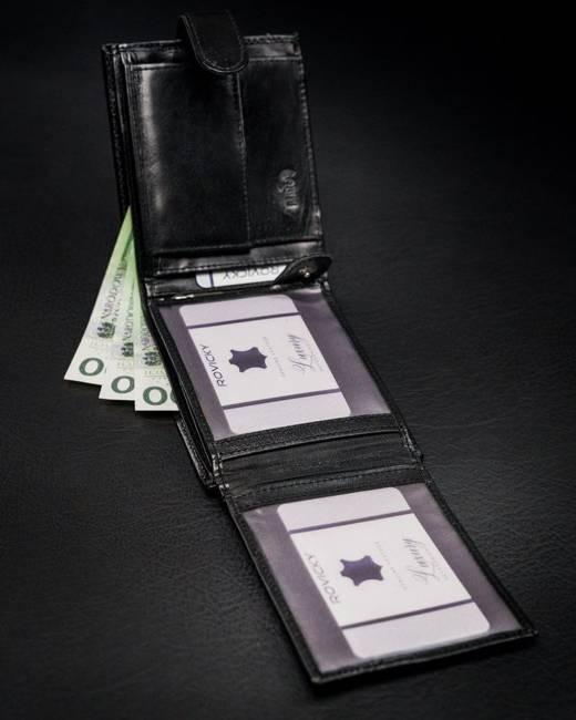 Portfel męski czarny Rovicky N992L-CMC BLACK