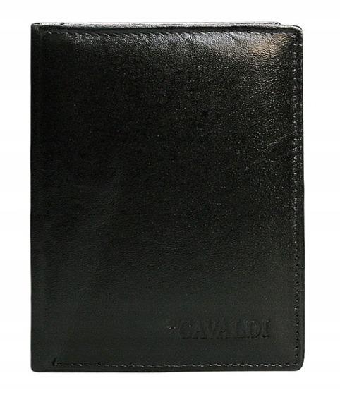 Portfel męski skórzany 4 u Cavaldi 0800-BS czarny
