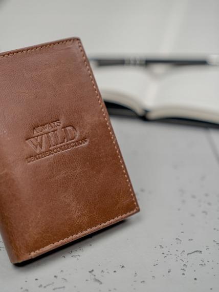 Portfel męski skórzany Always Wild N4-GTC brąz