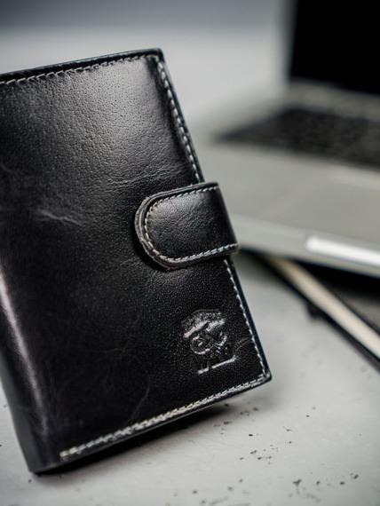 Portfel męski skórzany RFID Always Wild N4L-BC czarny