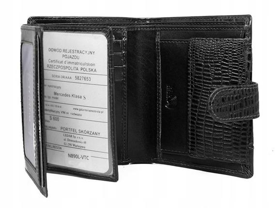 Portfel męski skórzany RFID Buffalo Wild N890L-VTC czarny