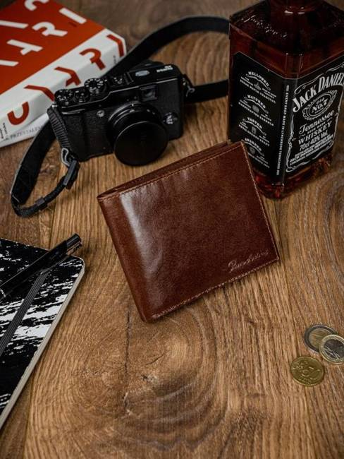 Portfel męski skórzany RFID Pierre Andreus N01-VT-NL brązowy