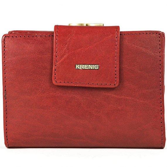 Portfel skórzany damski KRENIG El Dorado 11013 czerwony