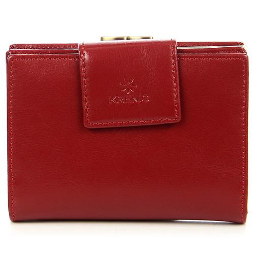 Portfel skórzany damski KRENIG Trendy 12013 czerwony w pudełku