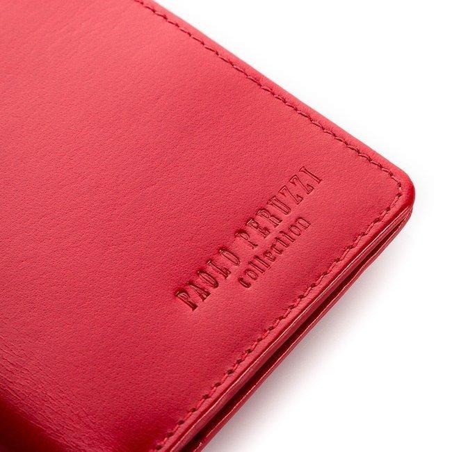 Portfel skórzany mały Paolo Peruzzi czerwony S-16
