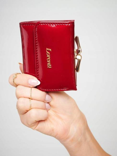 Portmonetka damska czerwona Lorenti 55287-SH NAPIS RED