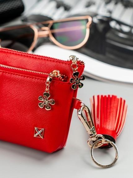 Portmonetka damska mini kosmetyczka czerwona Milano Design
