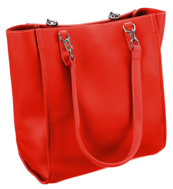 Prostokątny shopper czerwony David Jones CM5719 RED