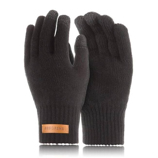 Rękawiczki męskie zimowe do smartfonów Brodrene R1 czarne