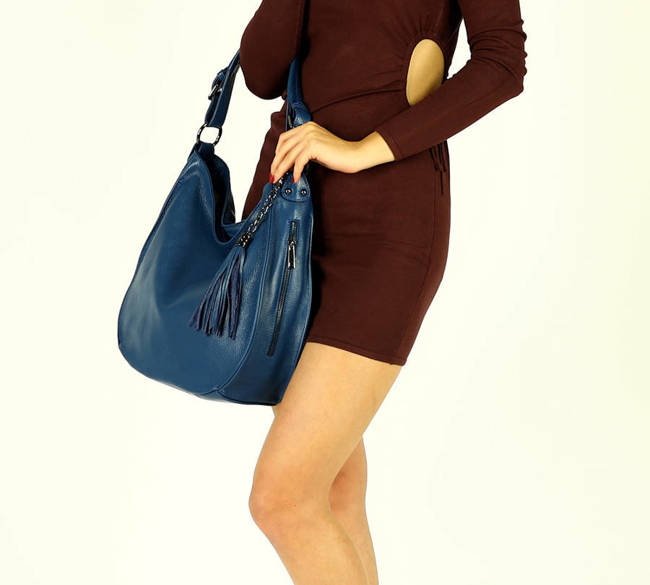 Shopper bag MARCO MAZZINI morski zielony s184h