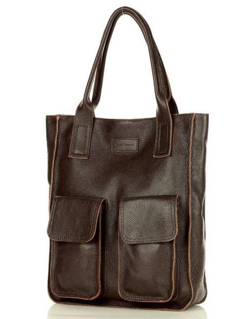 Shopper bag MAZZINI c. brązowy s131d
