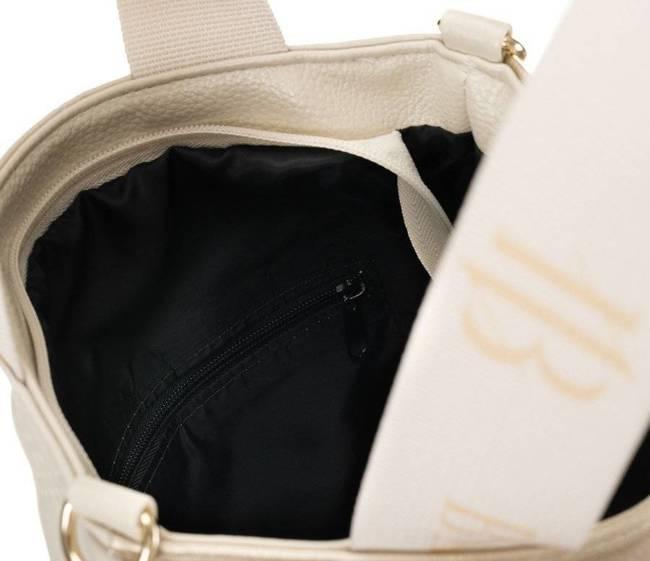 Shopper bag beżowo-złoty pikowany Badura T_D209PIK_BE/ZL_CD