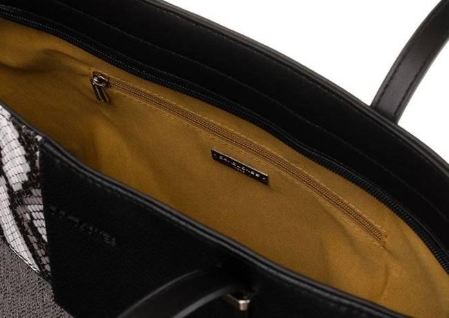 Shopper bag czarny David Jones 6279-2 BLACK