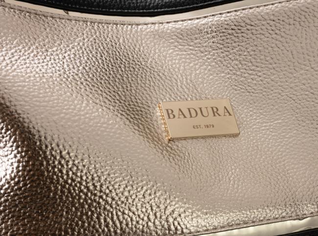 Shopper czarno-złoty Badura T_D162CZ_CD