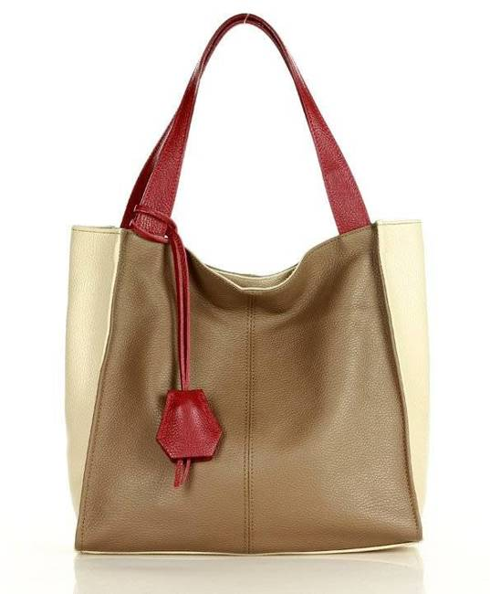 Shopper damski MAZZINI beż khaki s139h