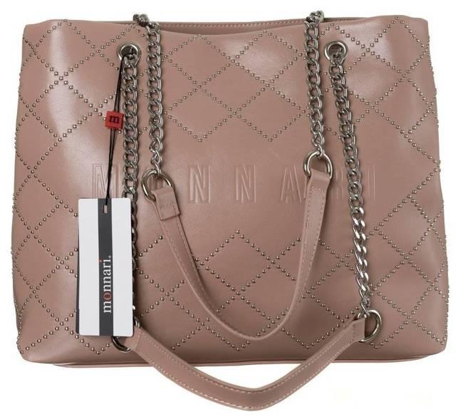 Shopper damski beżowy Monnari BAG1820-026-AB