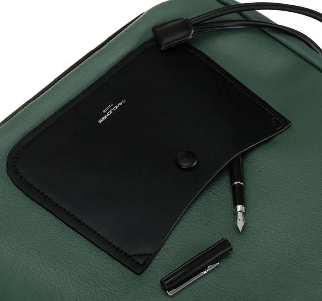 Shopper damski c. zielono-czarny David Jones CM6073 D.GREEN