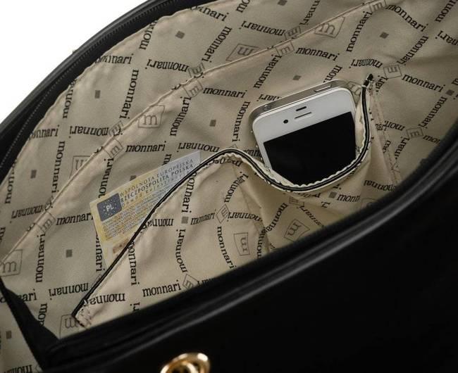 Shopper damski czarny Monnari BAG1820-020