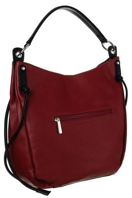 Shopper damski czerwono-czarny David Jones CM6073 RED