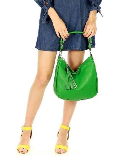 Shopper damski zielony MARCO MAZZINI s226k