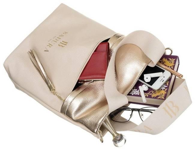 Shopper damski złoto-beżowy Badura TD_209BE/ZŁ_CD