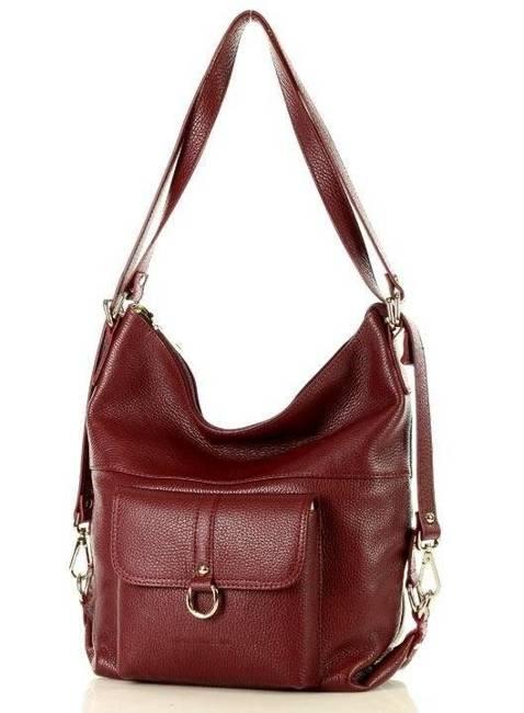 Shopper plecak 2w1 MARCO MAZZINI bordowy s116m