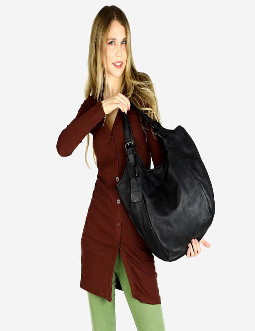 Shopperka MARCO MAZZINI czarny v141d
