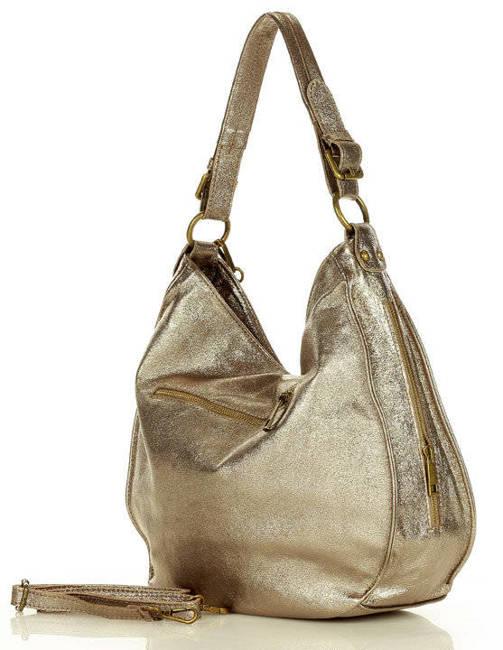 Shopperka brązowo-złota MARCO MAZZINI s184y