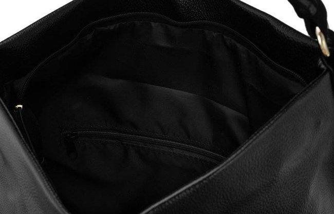 Shopperka czarna z frędzlami Badura T_D157CZ_CD