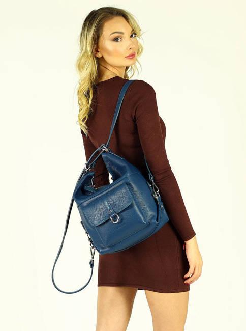 Shopperka plecak 2w1 zielony morski Mazzini  s116g