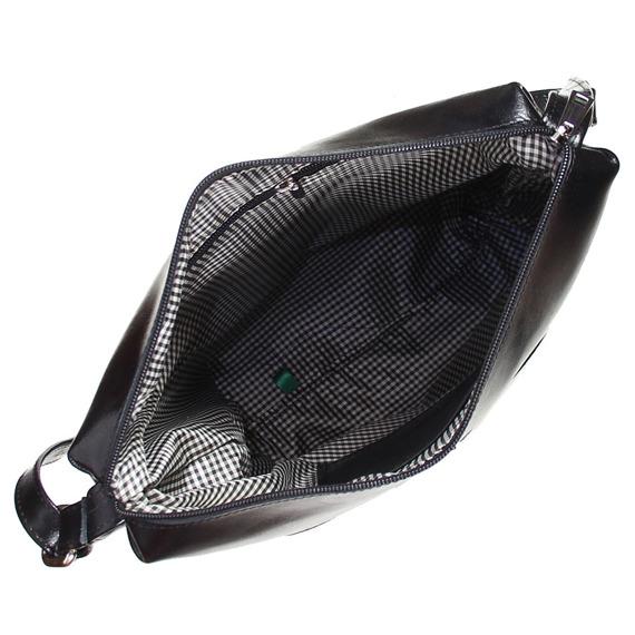 Skórzana listonoszka DAN-A T402 czarna