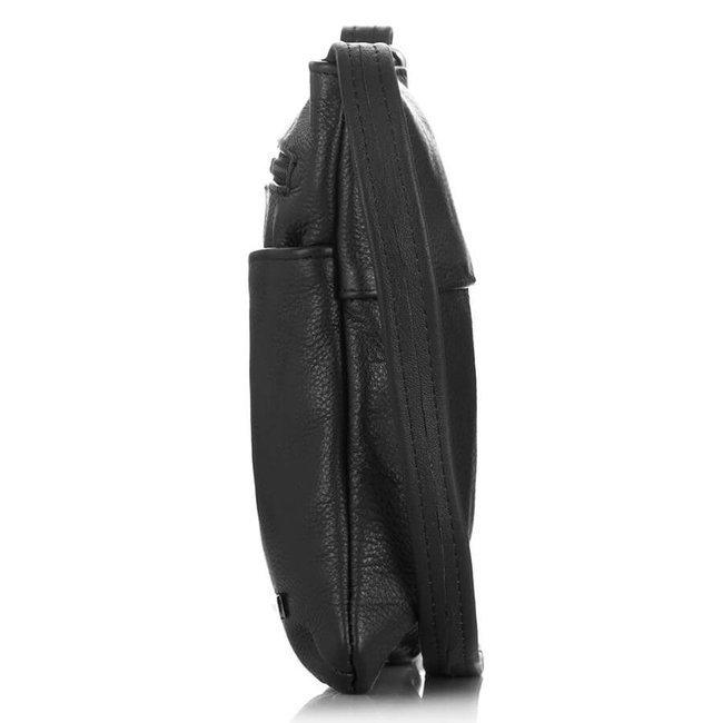 Skórzana listonoszka damska czarna Paolo Peruzzi B-17-BL