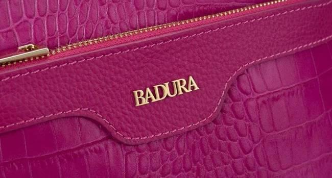 Skórzana listonoszka damska różowa Badura T_D221RO_CD