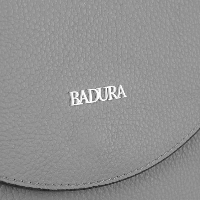 Skórzana listonoszka damska szara Badura T_D219SZ_CD