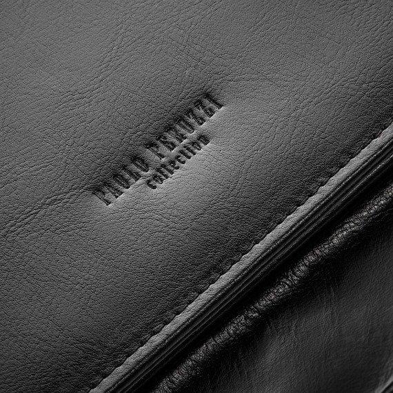 Skórzana teczka męska na laptopa PAOLO PERUZZI czarna