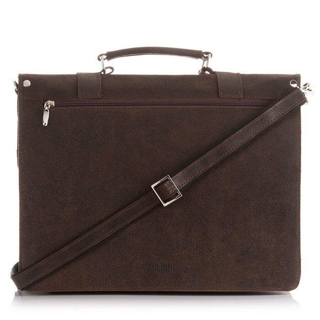 Skórzana teczka torba męska vintage c.brązowa PAOLO PERUZZI GA318