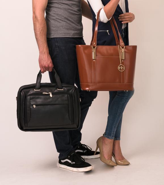 """Skórzana torba biznesowa na laptopa 15,4"""" Mcklein West Loop 44575"""