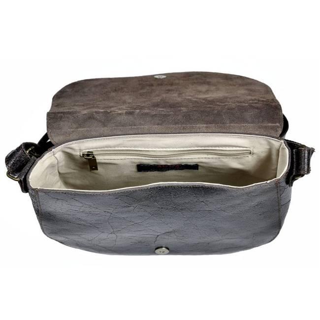 Skórzana torba damska DAAG Jazzy Wanted 112 c.brązowa